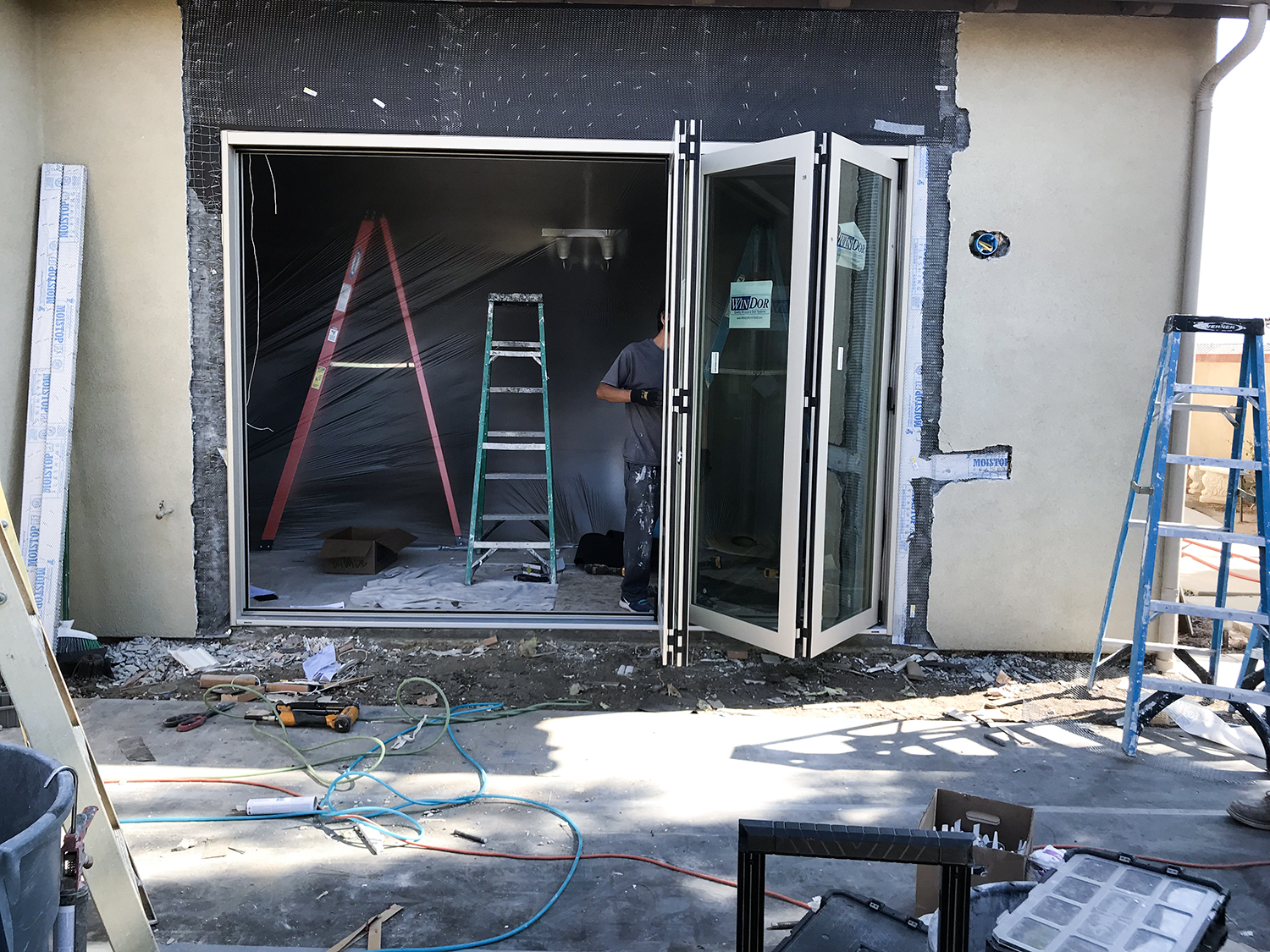 Riverside Bi-folding Door Installation